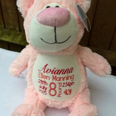 pink bear cubbie
