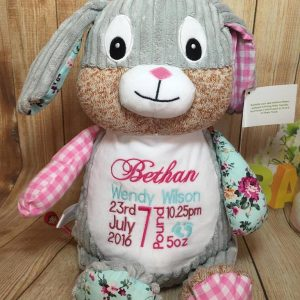 HARLEQUIN PINK BUNNY
