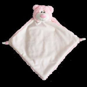 pink bear comfort blanket