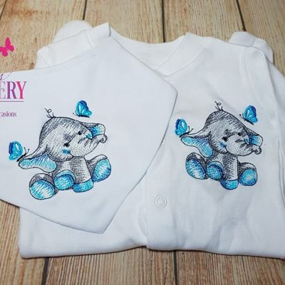 babygro and dribble bib