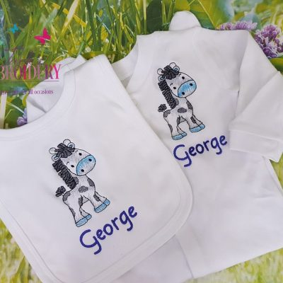 Raffi bib and babygro set