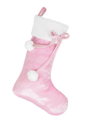 BABY PINK POM POM STOCKING