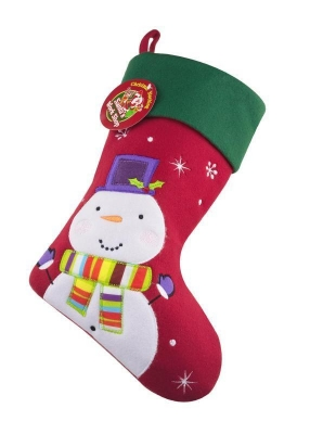 DELUX SNOWMAN CHRISTMAS STOCKING