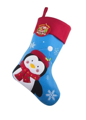 Deluxe Plush Penguin Christmas Stocking