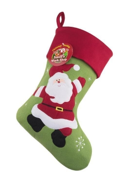 PLUSH SANTA CHRISTMAS STOCKING